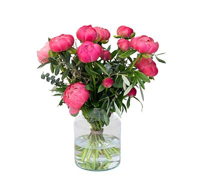 roze pioenboeket